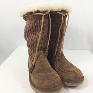 Ugg sweater leather boots
